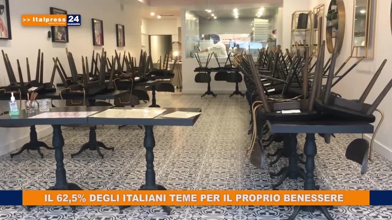 Il 62,5% degli italiani teme per il proprio benessere