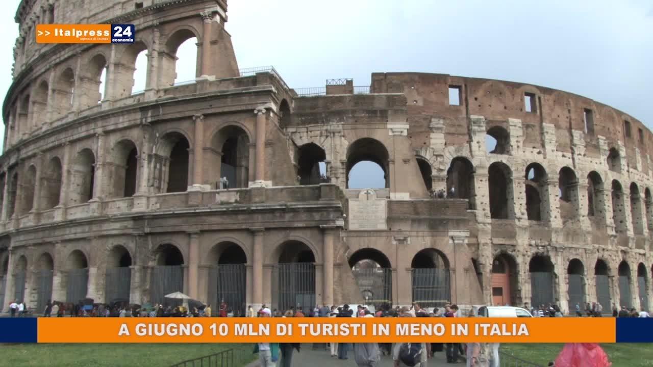 A giugno 10 mln di turisti in meno in Italia
