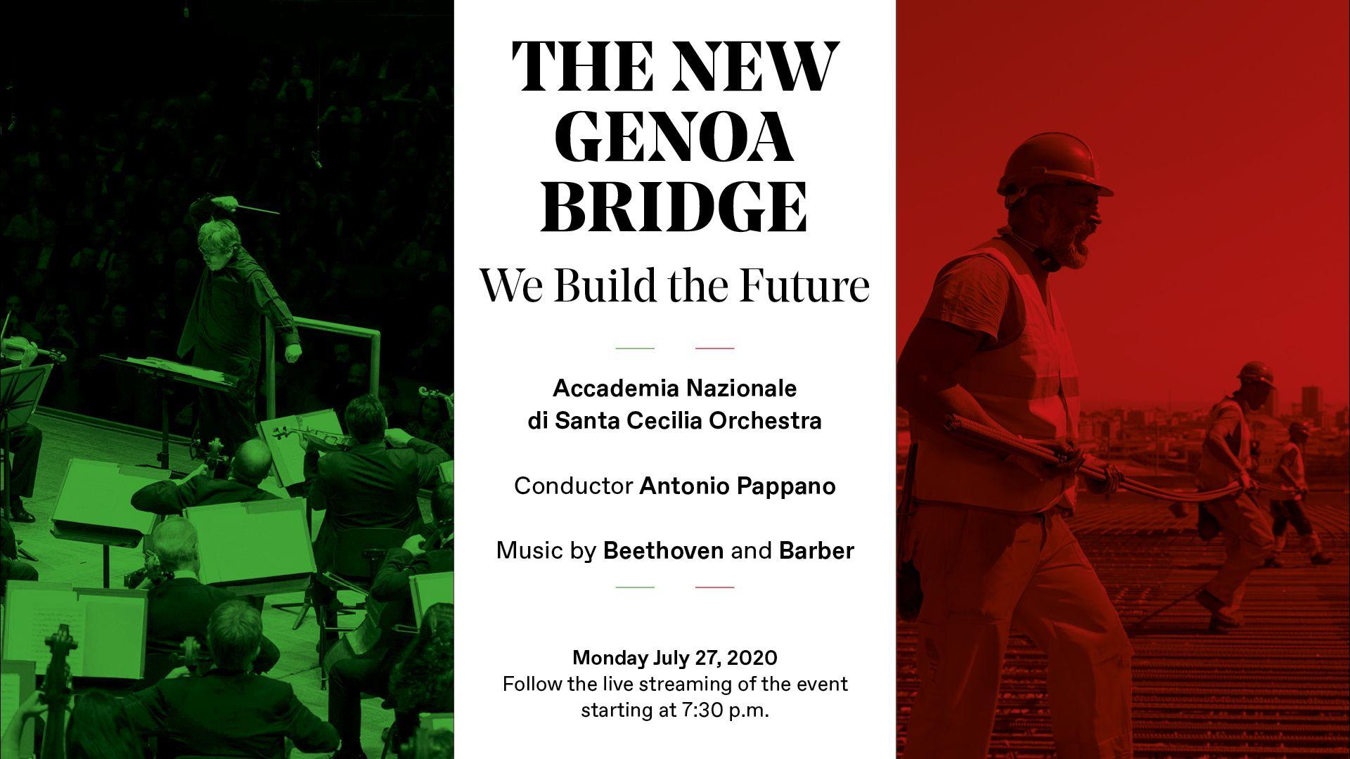 """""""Il nuovo Ponte di Genova"""", una serata in memoria delle vittime"""