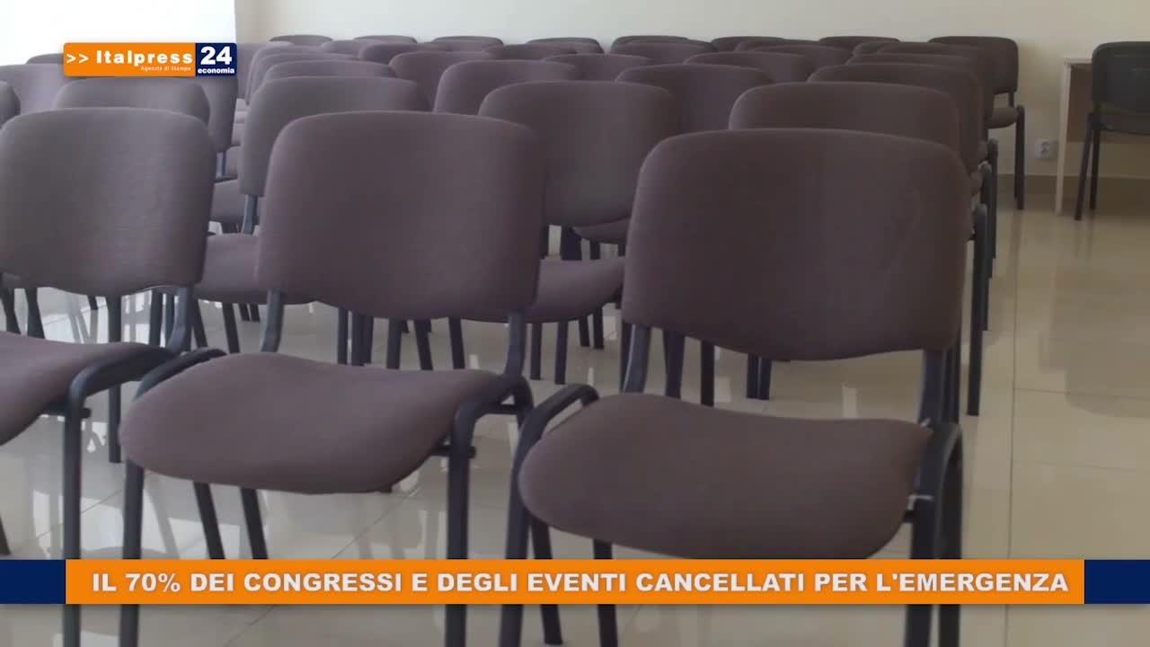 Il 70% dei congressi e degli eventi cancellati per l'emergenza