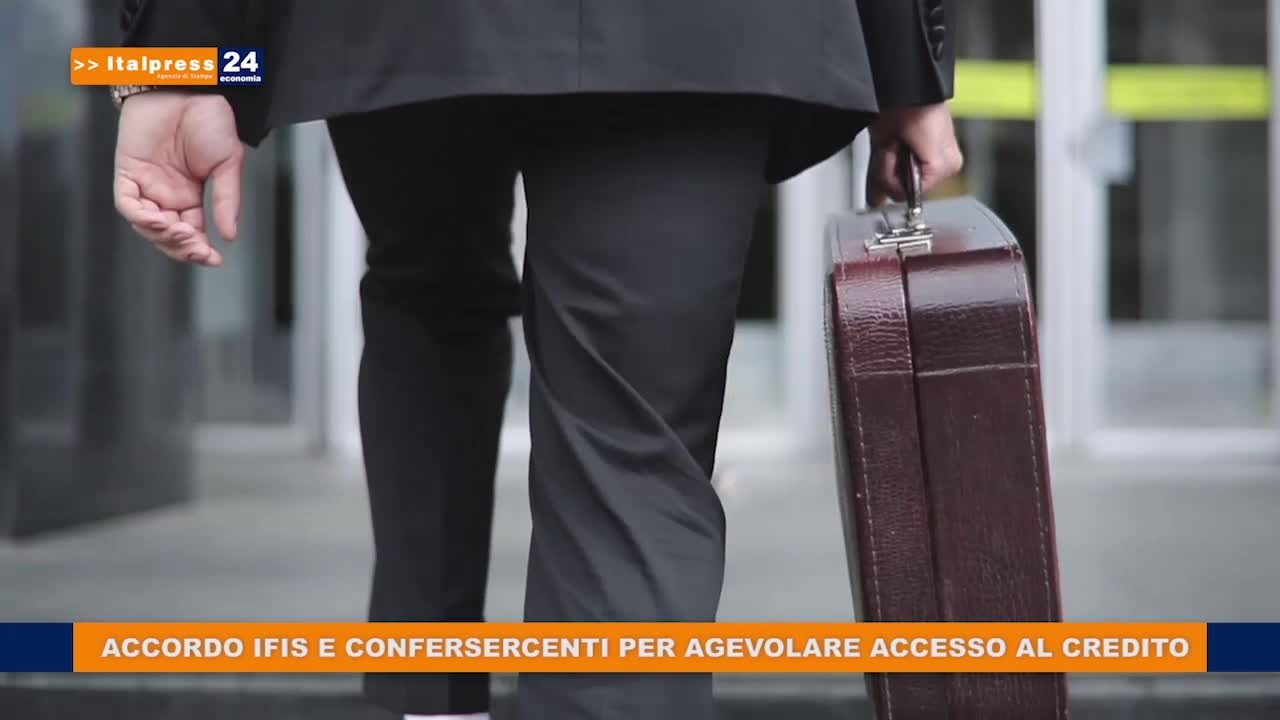 Credito, accordo Banca Ifis-Confersercenti