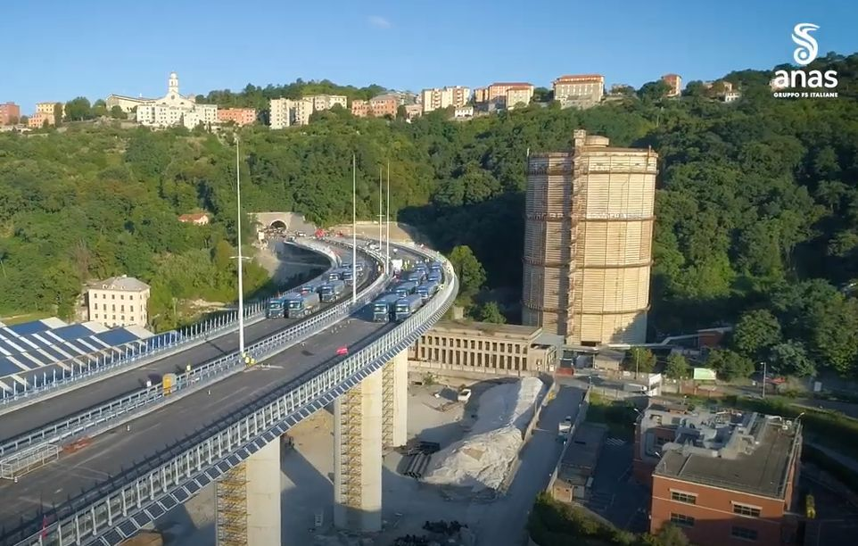 Ponte di Genova, il collaudo statico ha dato esito positivo