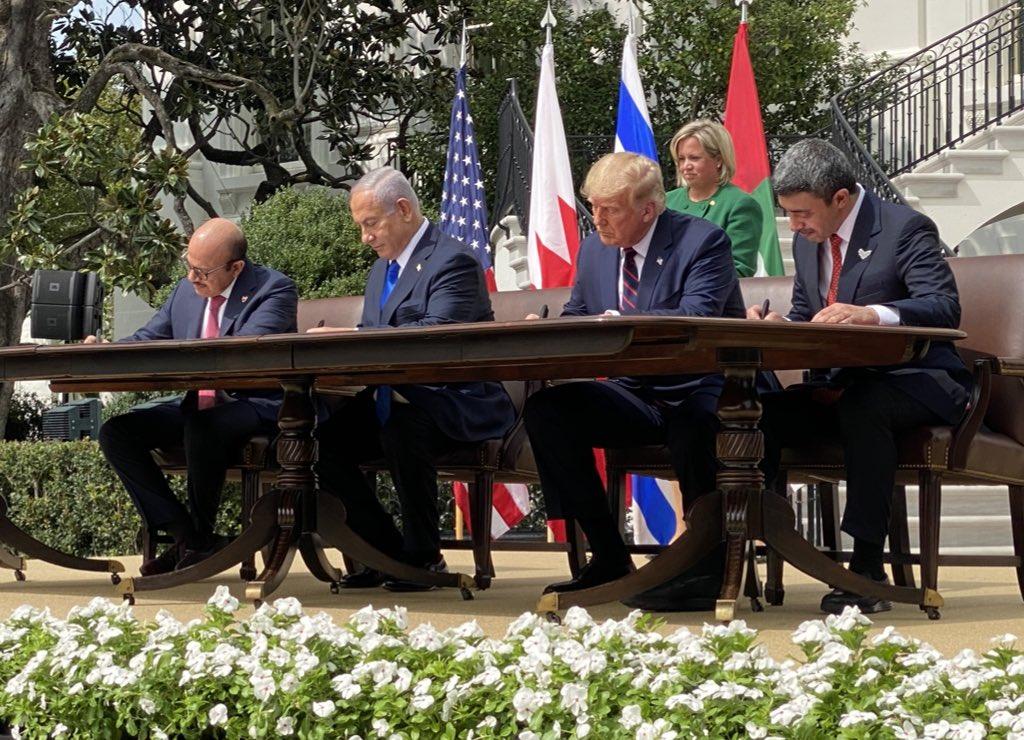 Medio Oriente, firmati i trattati Israele-Emirati Arabi-Bahrein