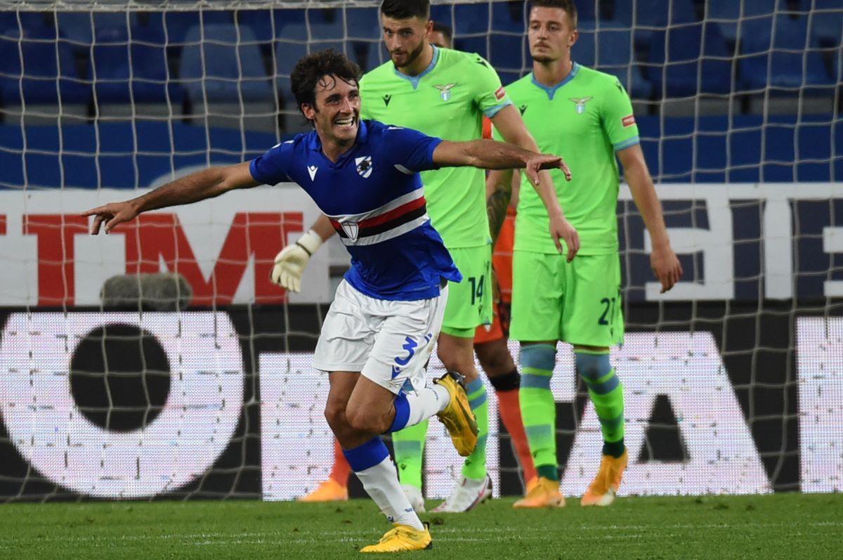 Samp-Lazio 3-0, i biancocelesti senza Immobile crollano a Marassi